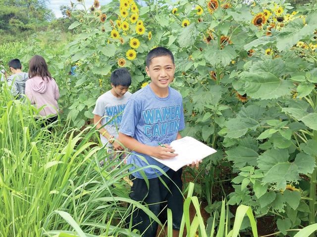 Young student farming goes west